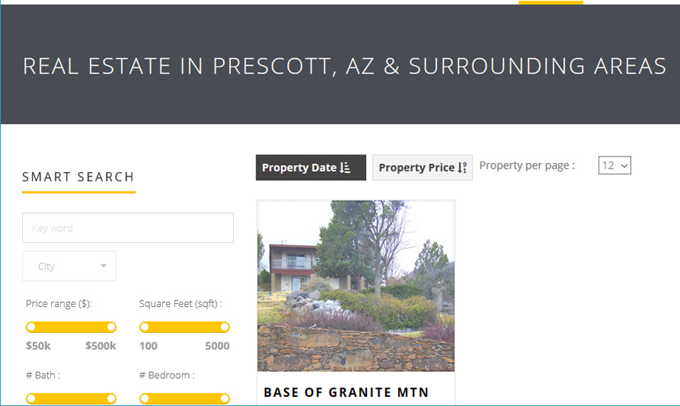 Prescott Area Homes for Sale